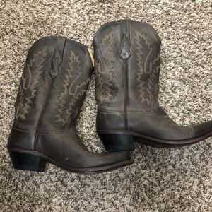 Old west real leather cowboy boots